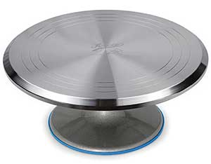 Ateco Revolving Cake Decorating Stand Aluminum Turntable and Base